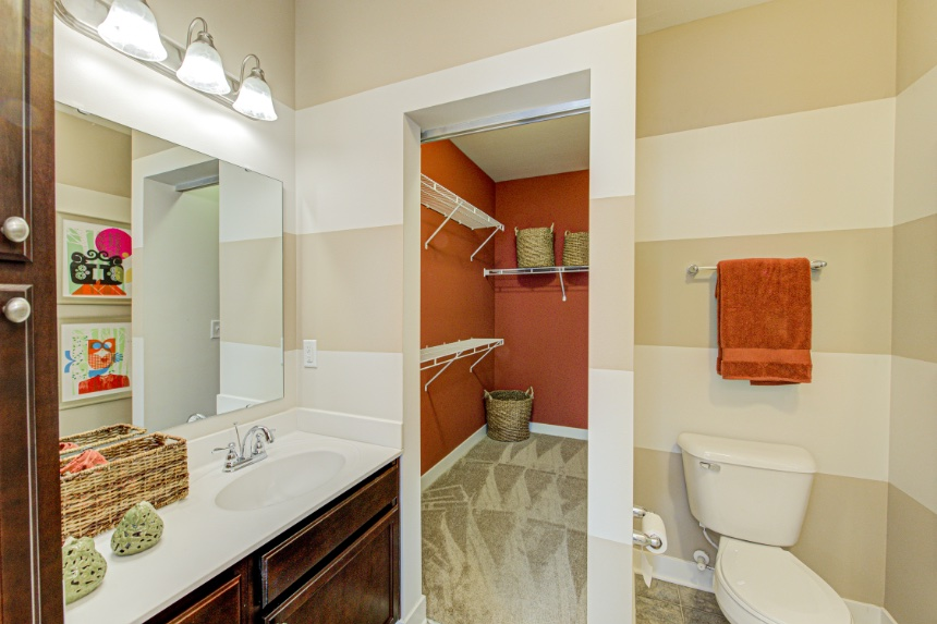 Model home bathroom in Bloomington